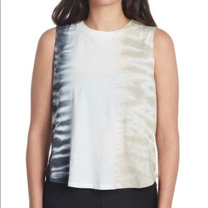 SAGE Collective tagless tie dye muscle tank top